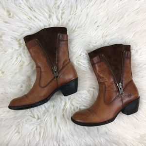 Born Mila Bootie Pull On Boot Size Zip Size 7